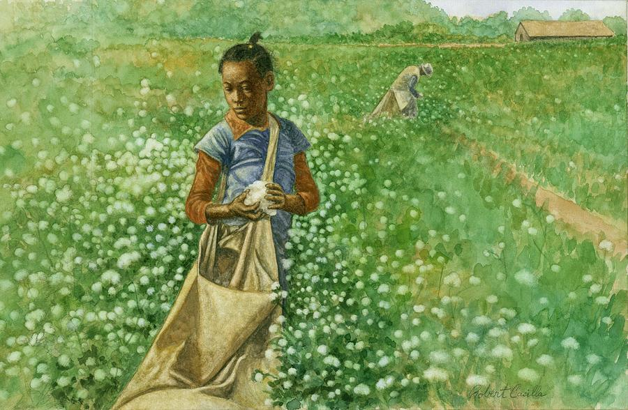 Cotton Field Painting