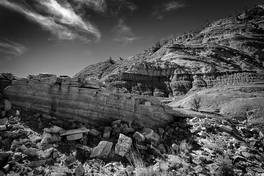 Beautiful Photos Photograph - Cottonwood Creek Strange Rocks 3 Bw by Roger Snyder