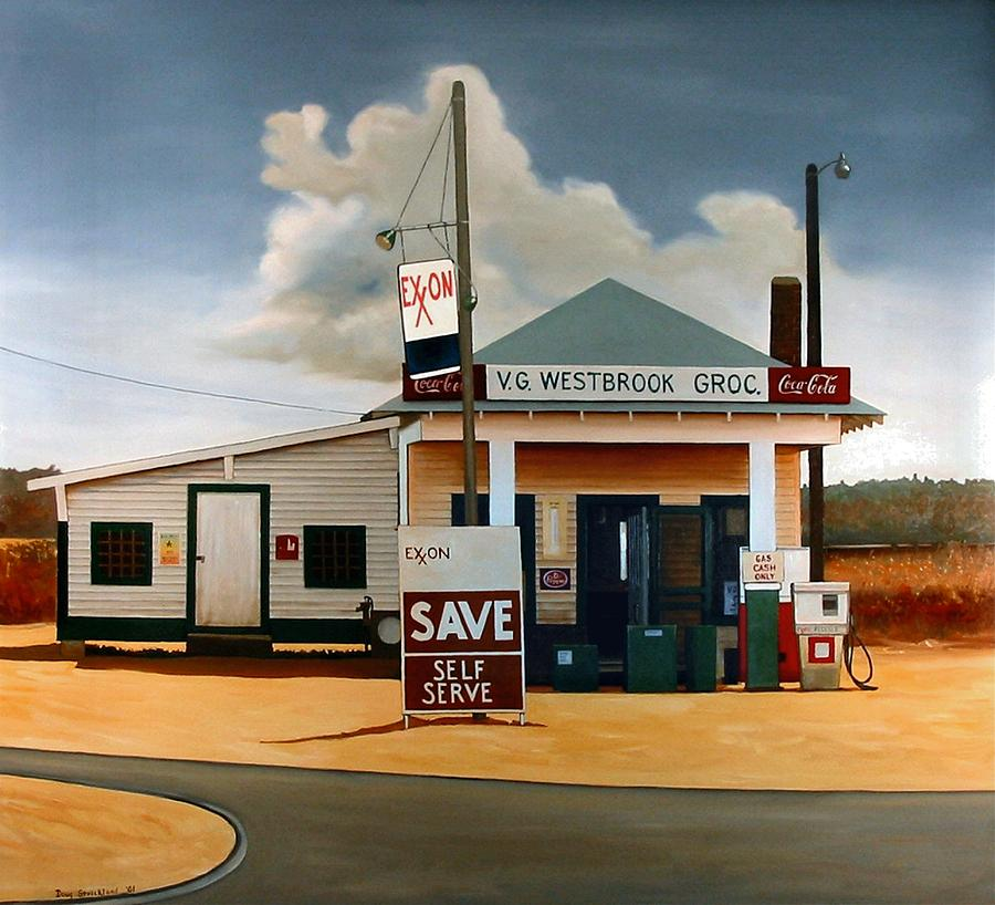 Doug Strickland Painting - Country Crossroads by Doug Strickland