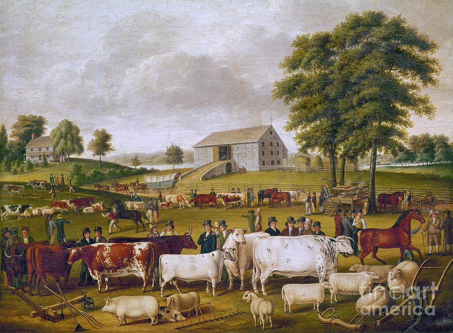 1824 Photograph - Country Fair, 1824 by Granger