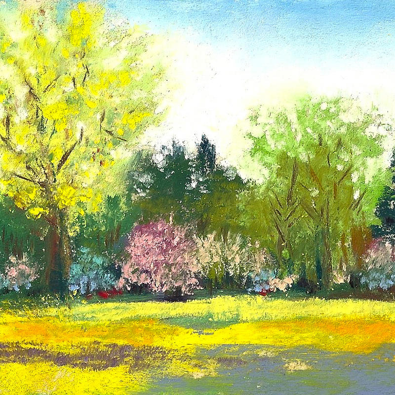 Pastel Painting - Country Garden by David Patterson