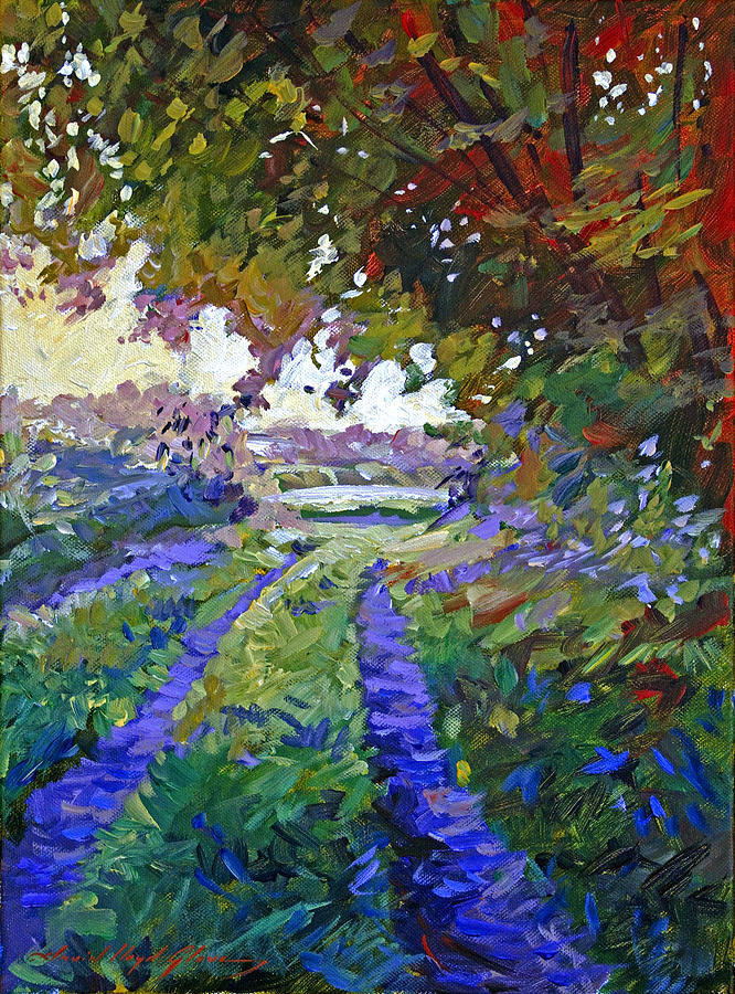 Plein Aire Painting - Country Roads Provence by David Lloyd Glover