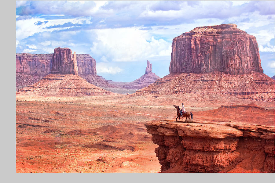 Adult Photograph - Cowboy In Monument Valley by Kantor
