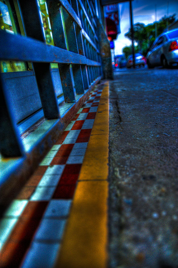 Tiles Photograph - Cracks In The Pavement by Sarita Rampersad