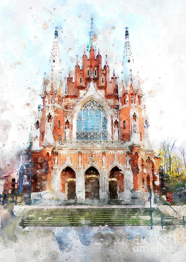 Cracow Art 32 St. Josephs Church Digital Art