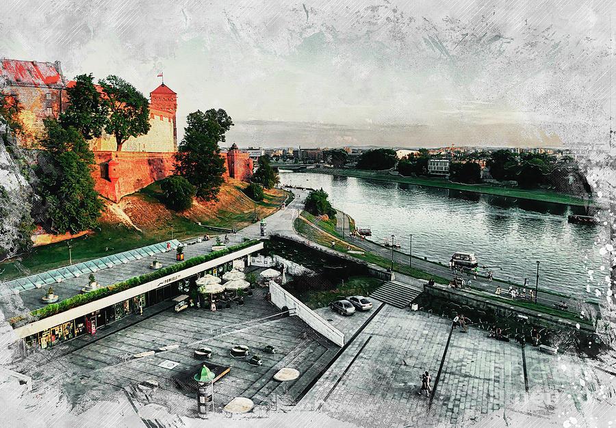 Cracow Art 8 Wawel Digital Art