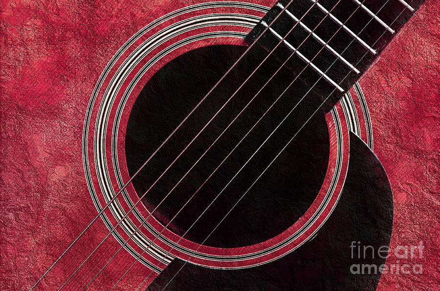 Andee Design Photograph - Cranberry Guitar by Andee Design