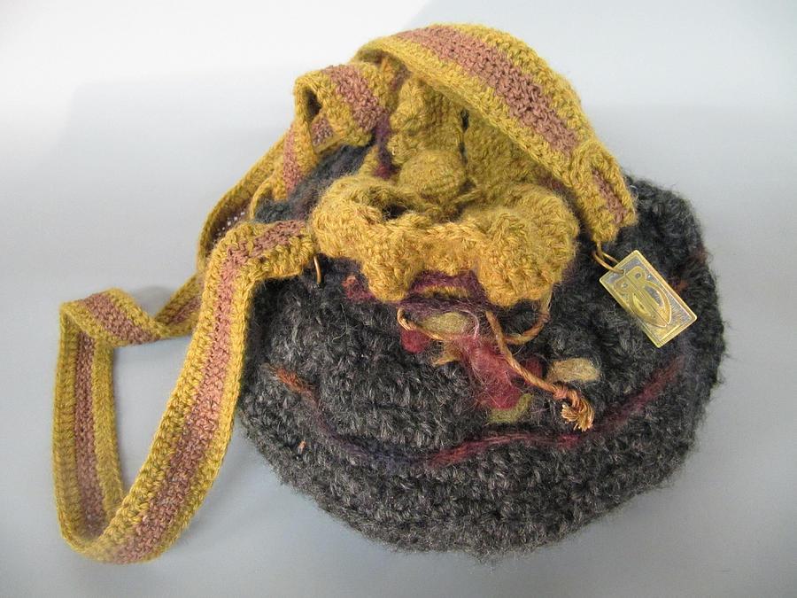 Handbag Mixed Media - Cranberry Handbag by Brenda Berdnik