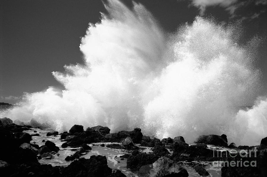 Crashing Wave - Bw Photograph