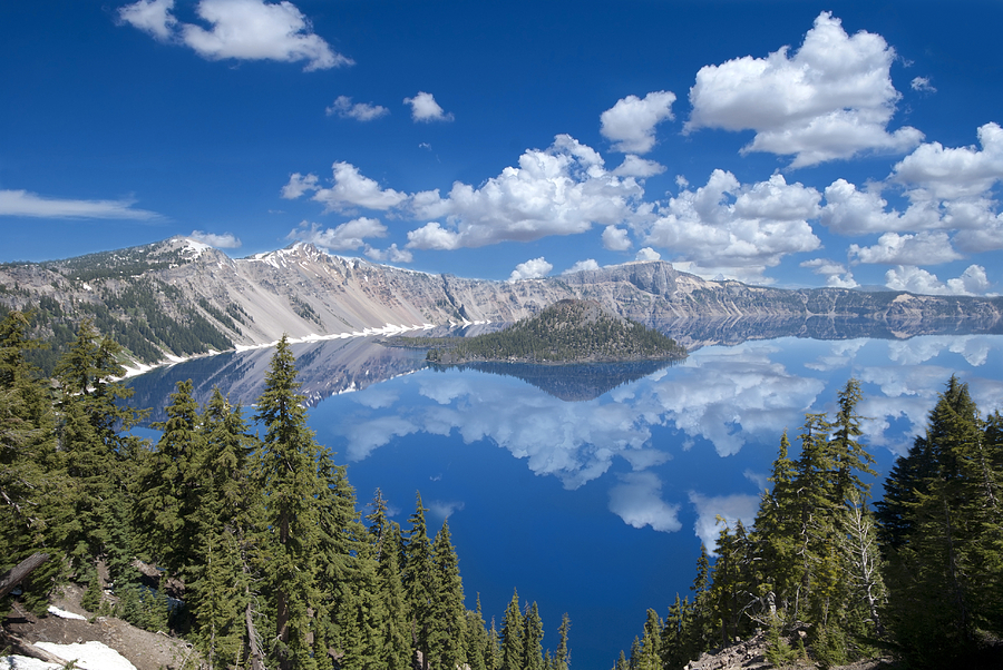 Crater Lake Reflections Photograph