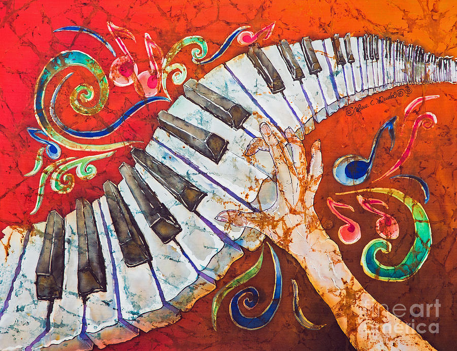 Piano Painting - Crazy Fingers - Piano Keyboard  by Sue Duda