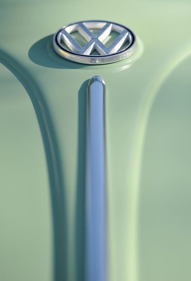 Car Photograph - Cream Green Volkswagon by Brian Mollenkopf