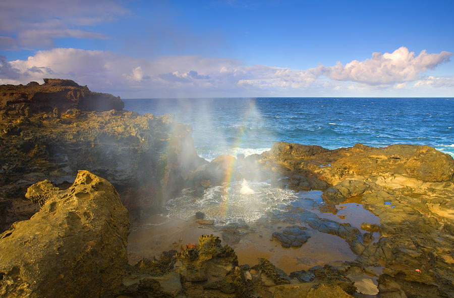 Blowhole Photograph - Creating Miracles by Mike  Dawson