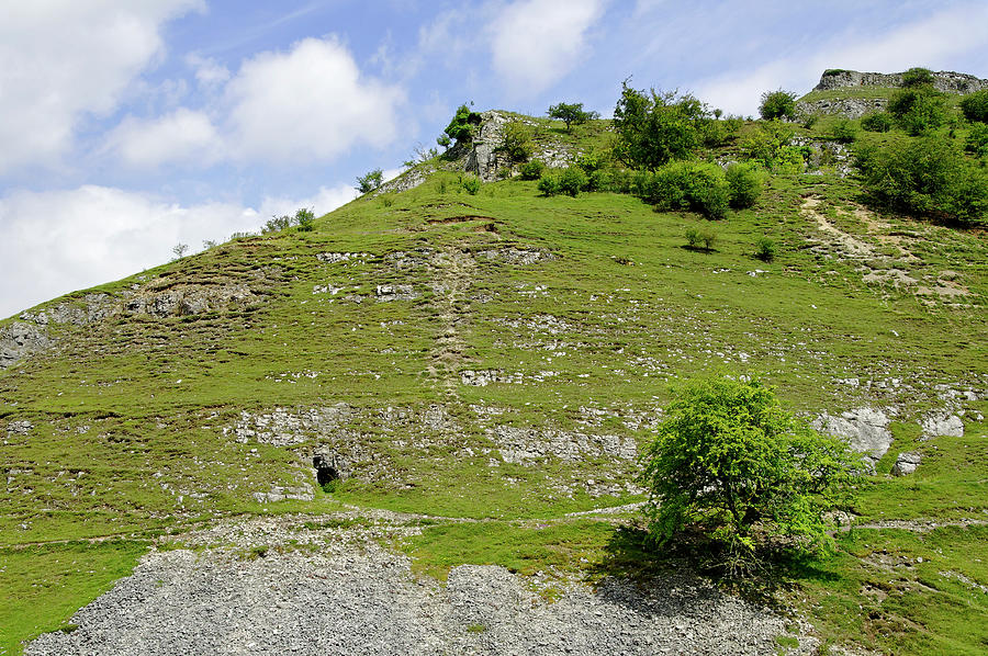 Cressbrook Dale Opposite To Tansley Dale Photograph