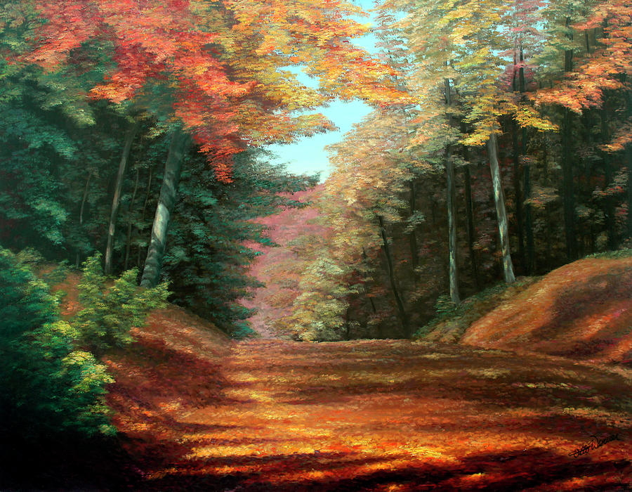 Cressmans Woods Painting
