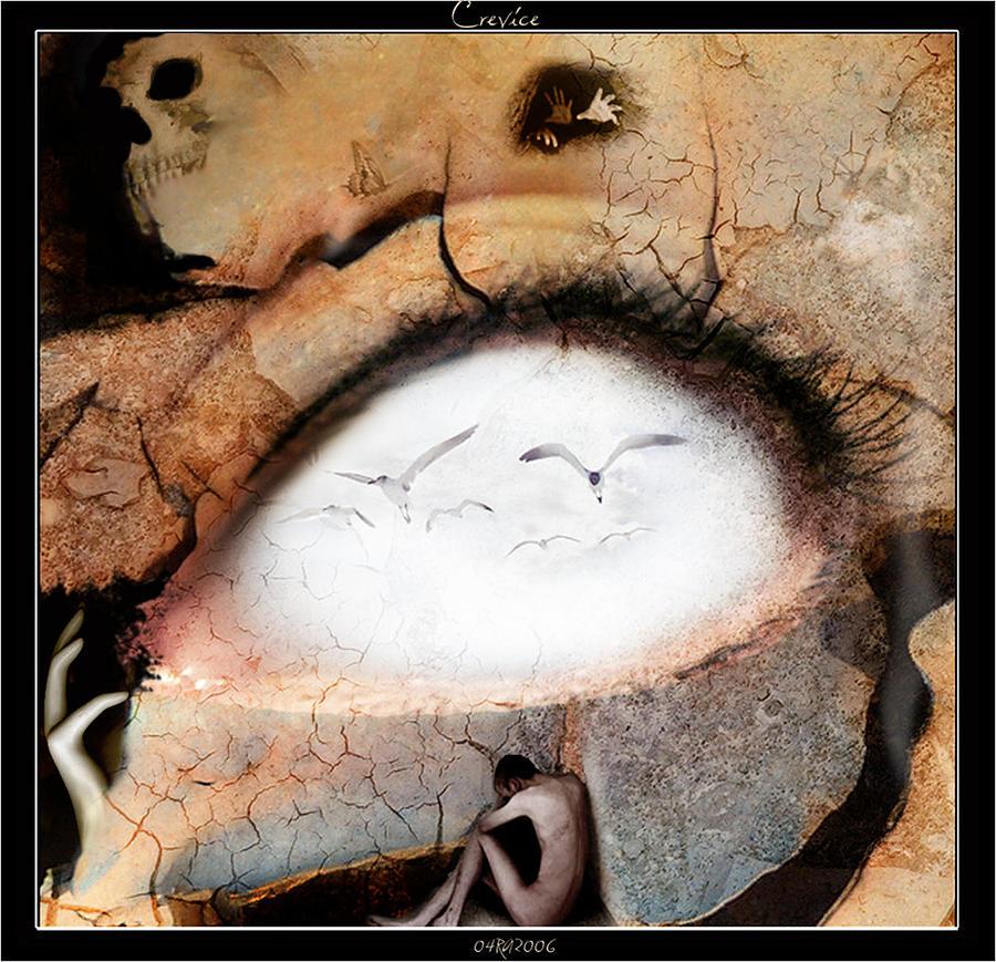 Seagull Digital Art - Crevice by Robert  Adelman