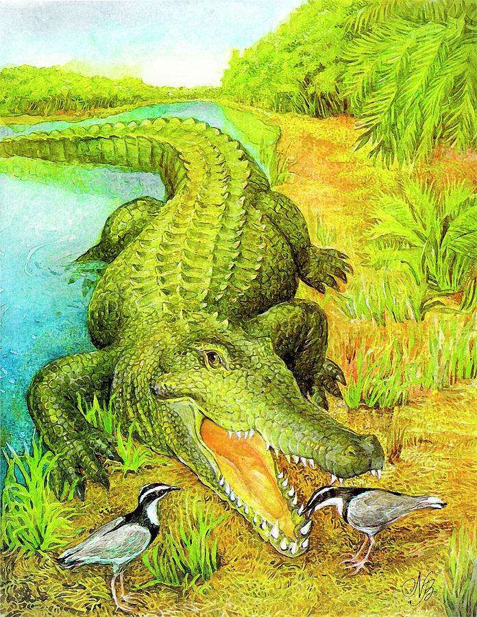 Bird Painting - Crocodile by Natalie Berman