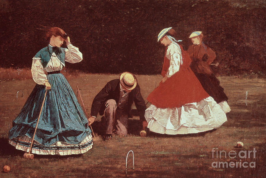 Winslow Painting - Croquet Scene by Winslow Homer