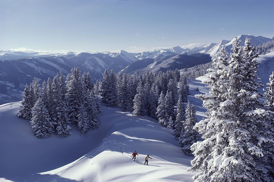 Cross-country Skiing In Aspen, Colorado Photograph