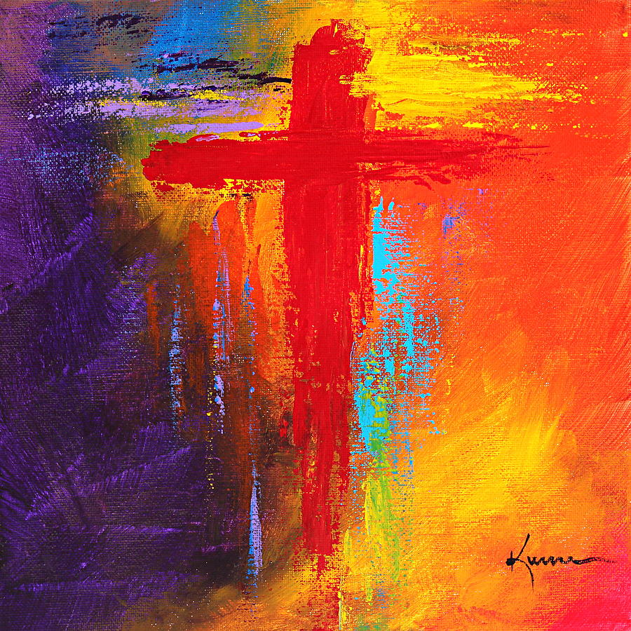 Cross painting by kume bryant for Cross paintings on canvas