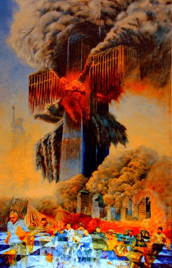 Henryk Painting - Cross Of The Third Millennium by Henryk Gorecki