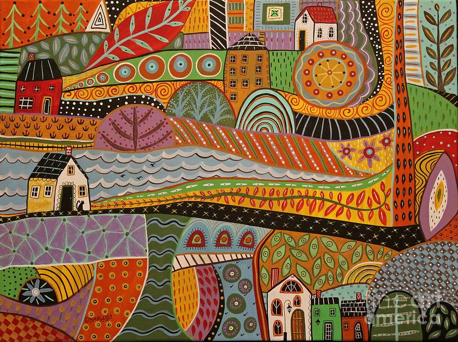 Crossroads Painting By Karla Gerard