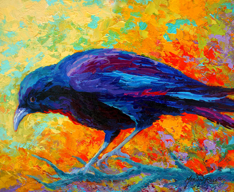 Crows Painting - Crow IIi by Marion Rose