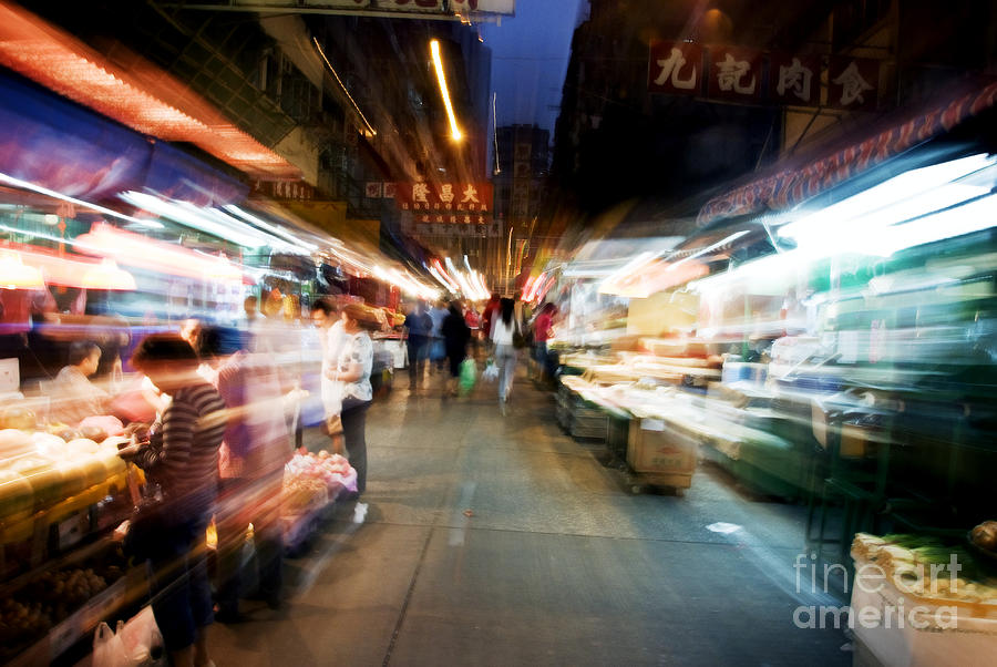 Asian Art Photograph - Crowds Moving Through Jordan by Ray Laskowitz - Printscapes