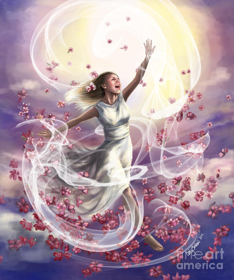 Prophetic Art Painting - Crowned With Glory... Dancing In Glory by Tamer and Cindy Elsharouni