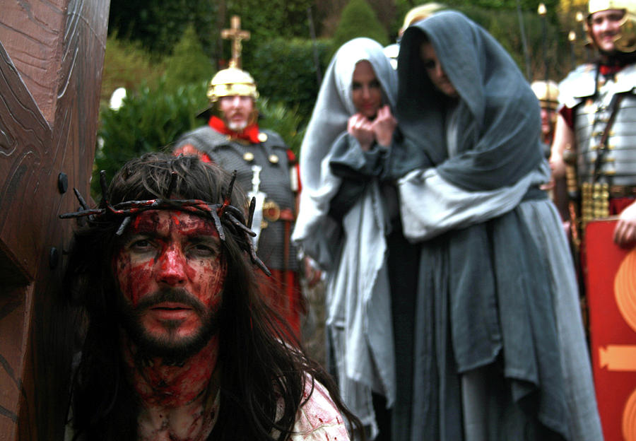 Crucification Pyrography