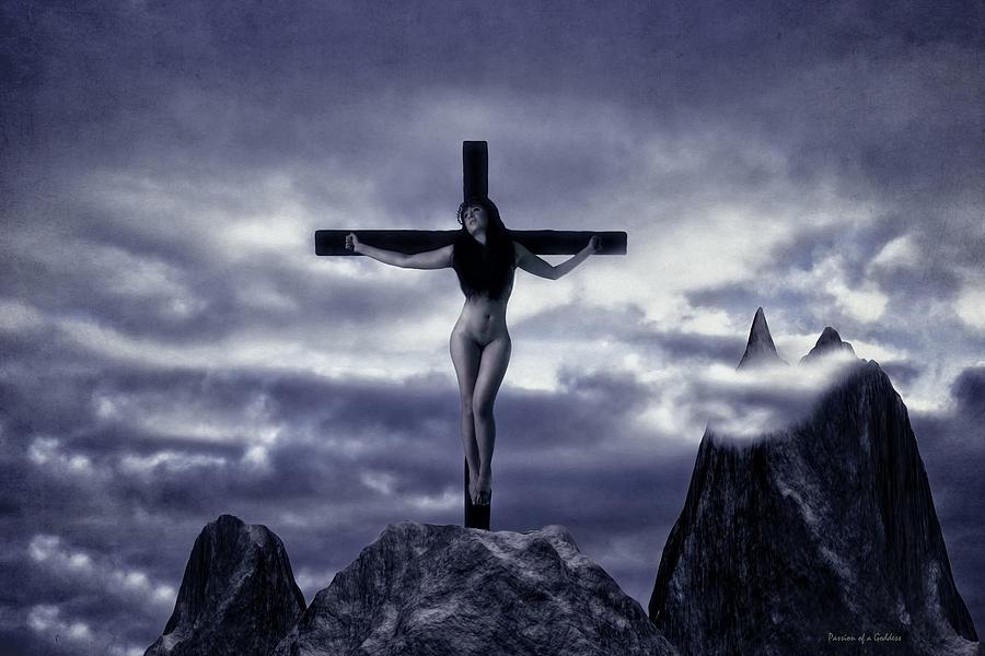 Crucifixion Photograph - Crucifixion On The Mountain by Ramon Martinez