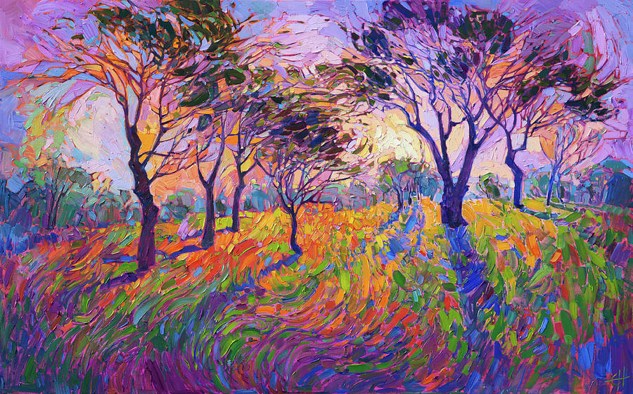 Crystal grove painting by erin hanson for Paintings of crystals