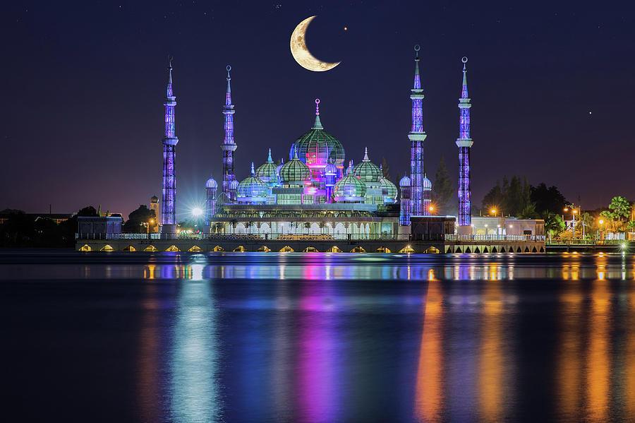 Kuala Terengganu Malaysia  city images : Crystal Mosque In Kuala Terengganu, Malaysia is a photograph by Anek ...