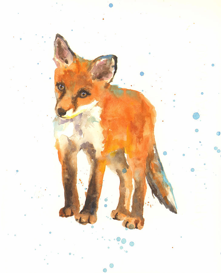 Fox Painting - Curious Kit by Alison Fennell