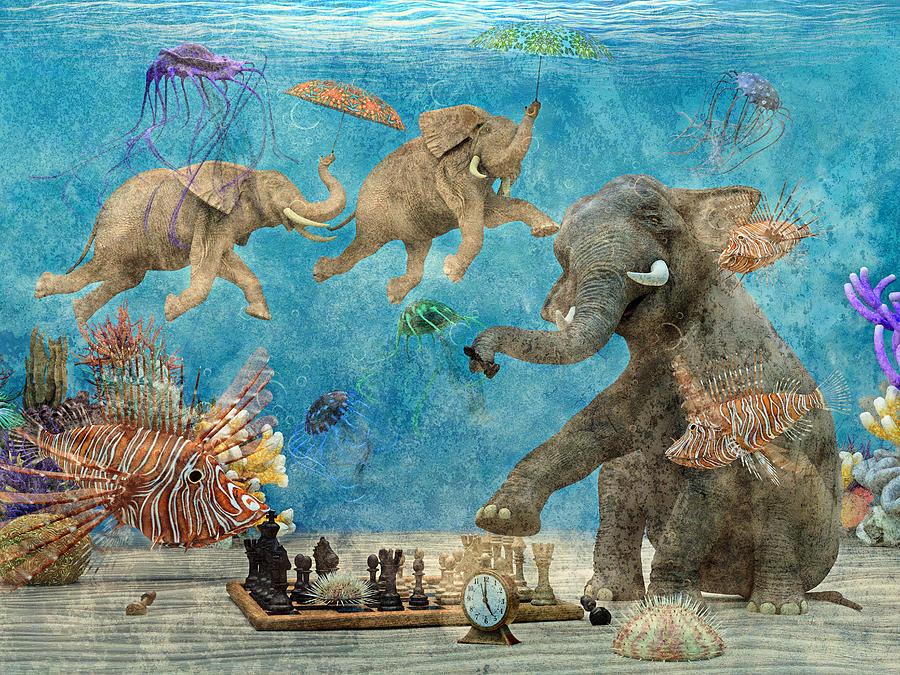 Curious Ocean Textured Digital Art