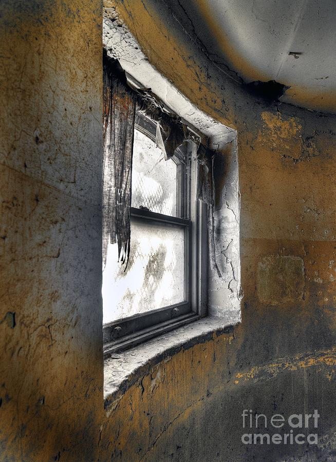 Digital Hdr Photograph - Curved Wall Window by Norman  Andrus
