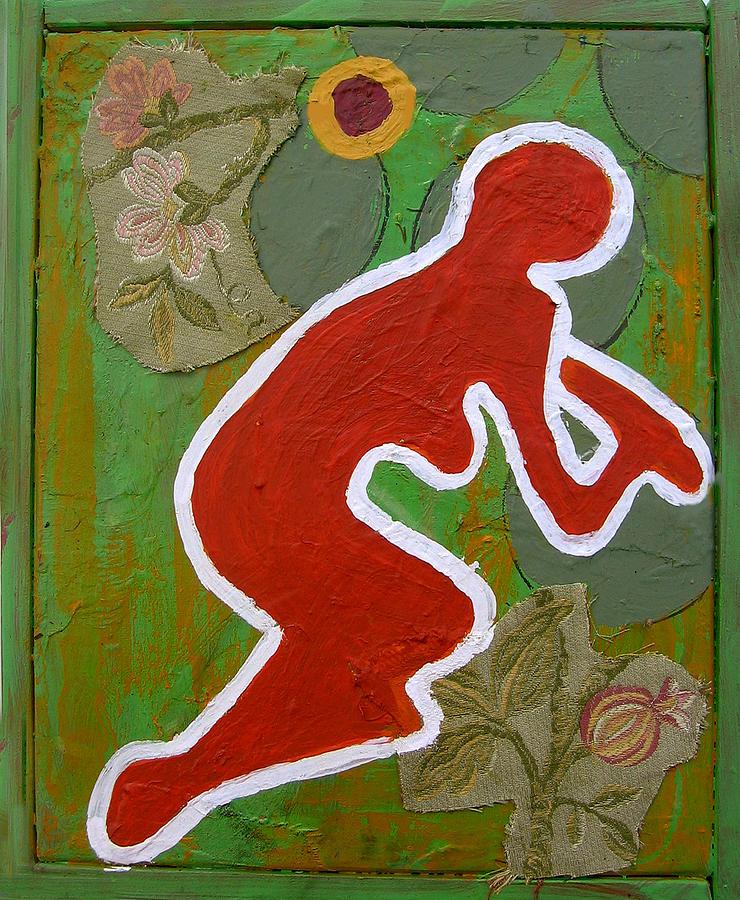 Girl Painting - Curvism - Plum Tree by Adam Kissel