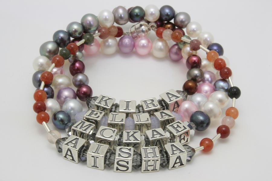 Bracelet Jewelry - Customized Name Bracelets by Jerri Nielsen