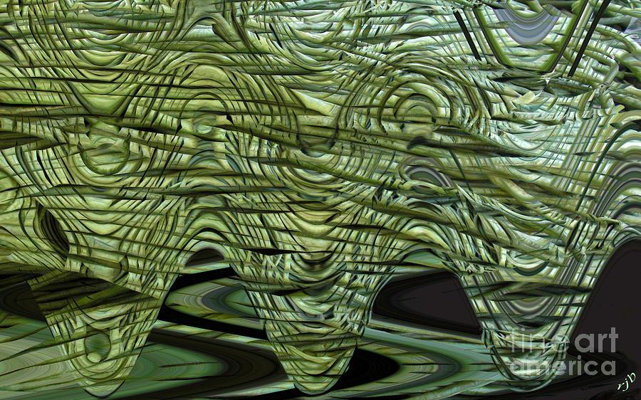 Cut Green Beans Digital Art