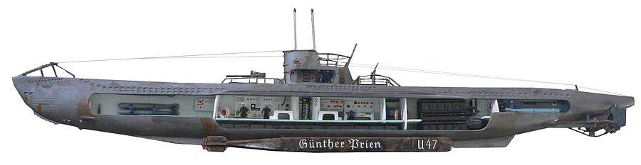 U-boat Drawing - Cutaway by Aviation Heritage Press