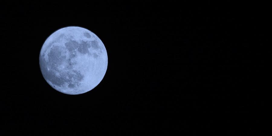 Cyan Super Moon Photograph By Warren Thompson