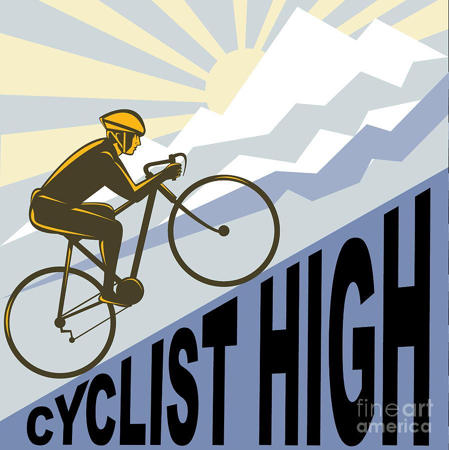 Cyclist Digital Art - Cyclist Racing Bike by Aloysius Patrimonio