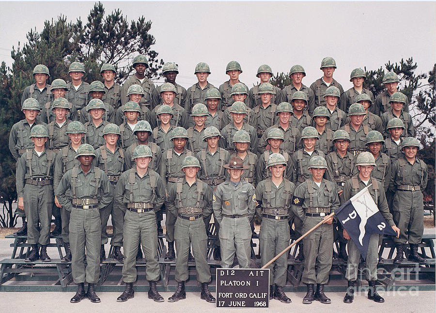 D12 Ait Platoon 1 Fort Ord 17 June 1968 Photograph By