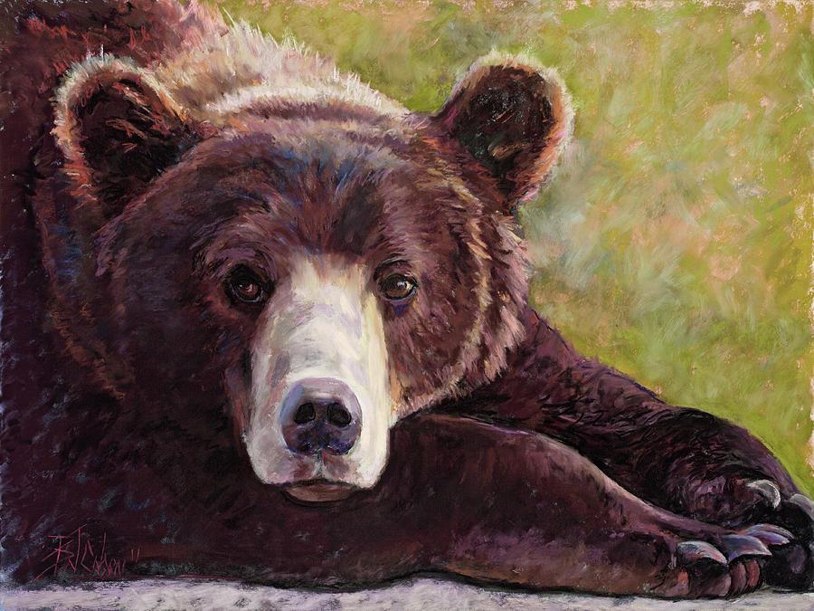 Bear Painting - Da Bear by Billie Colson