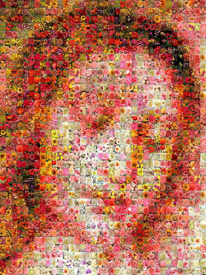 Mosaic Digital Art - Da Vinci - Christ by Gilberto Viciedo