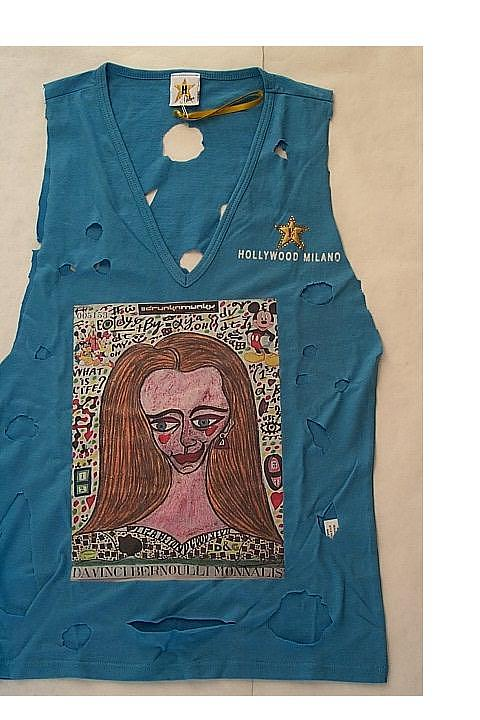 Da Vinci Bernoulli Monna Lisa Hollywood-milano Fashion Exclusive Mixed Media - Da Vinci Bernoulli Monna Lisa Hollywood-milano Special Singlet by Francesco Martin