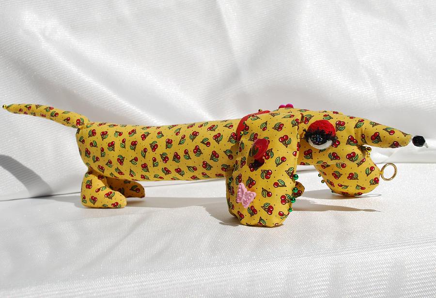 Dog Tapestry - Textile - Dachshund by Tamara Konovalova