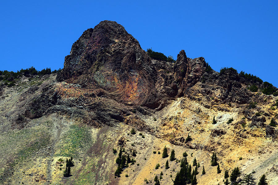 Dacite Lava Outcrop On Mount Lassen Photograph by Frank Wilson Dacite Lava
