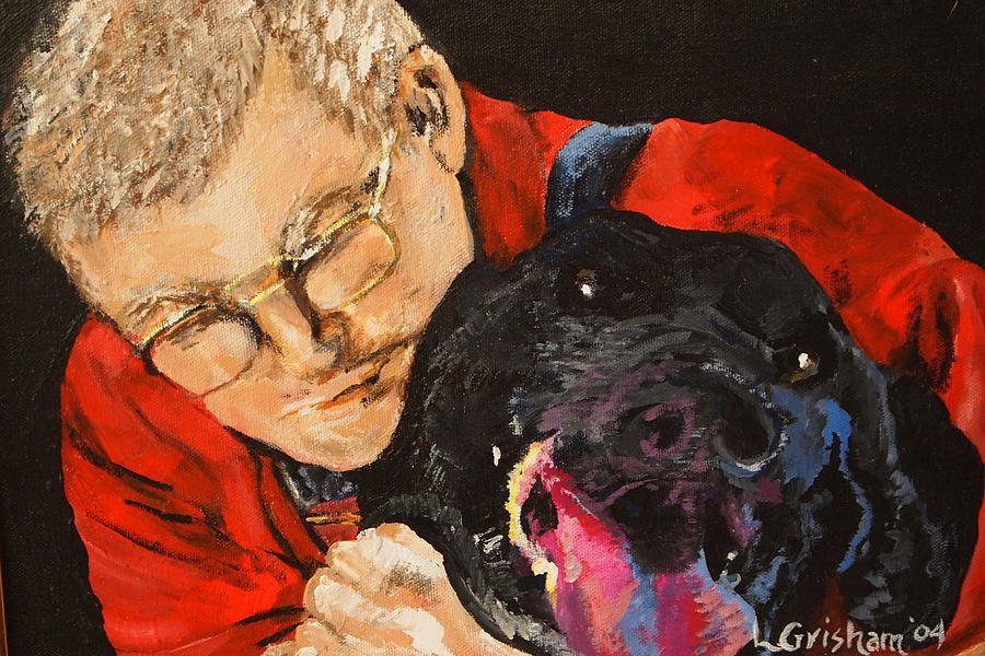 Pets Painting - Daddy And Borus by Laura  Grisham