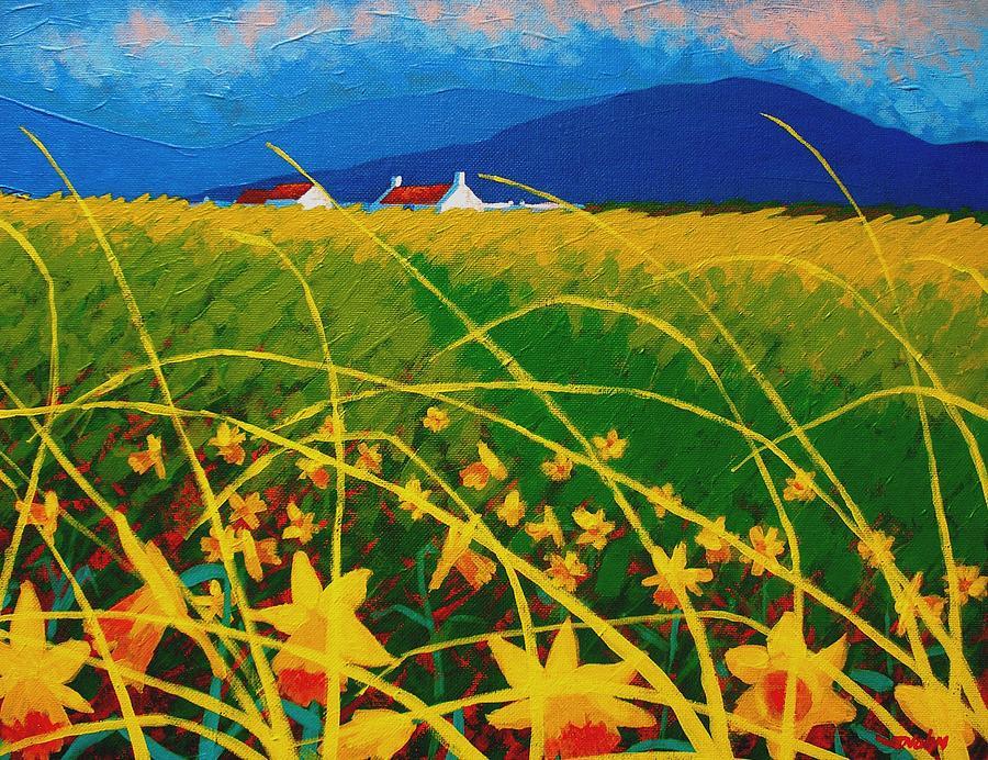 Ireland Painting - Daffodil Landscape by John  Nolan